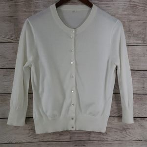 J. Crew Cotton Buttondown Cardigan
